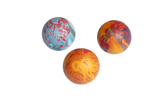 Medium size dog ball made from rubber, multicolor