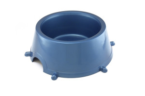 Large plastic bowl for dogs with anti-skid rubber feet on the bottom