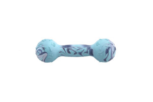 Rubber dog toy in a shape of a dumbbell, non-toxic rubber