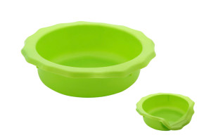 Portable dog bowl for food or water you can take with you for dog walks, fits in a pocket